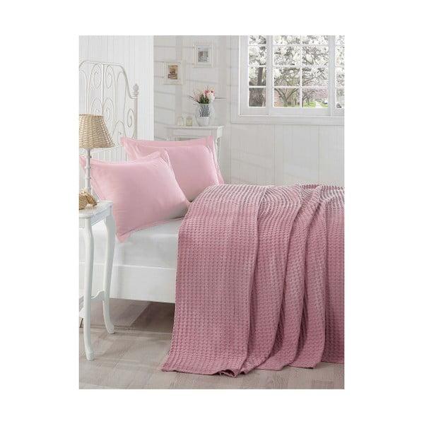 Lehký přehoz přes postel Boya Dusty Rose, 200x235 cm
