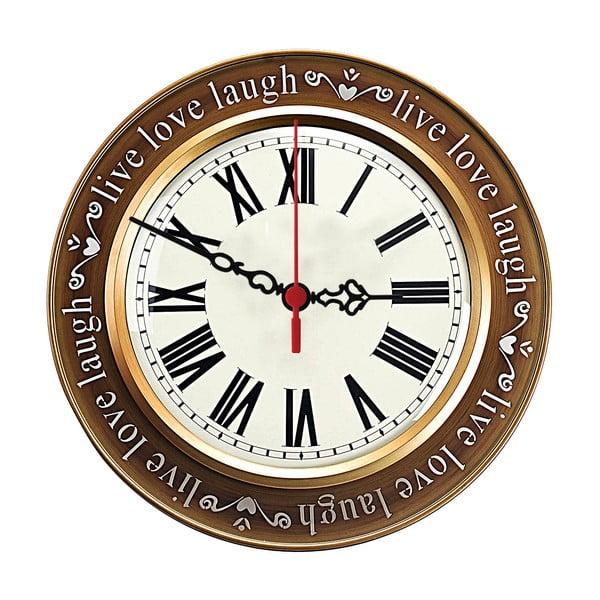 Nástěnné hodiny Live Love Laugh, 30 cm
