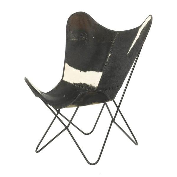 Kožešinové křesílko Parlane Texas, černé