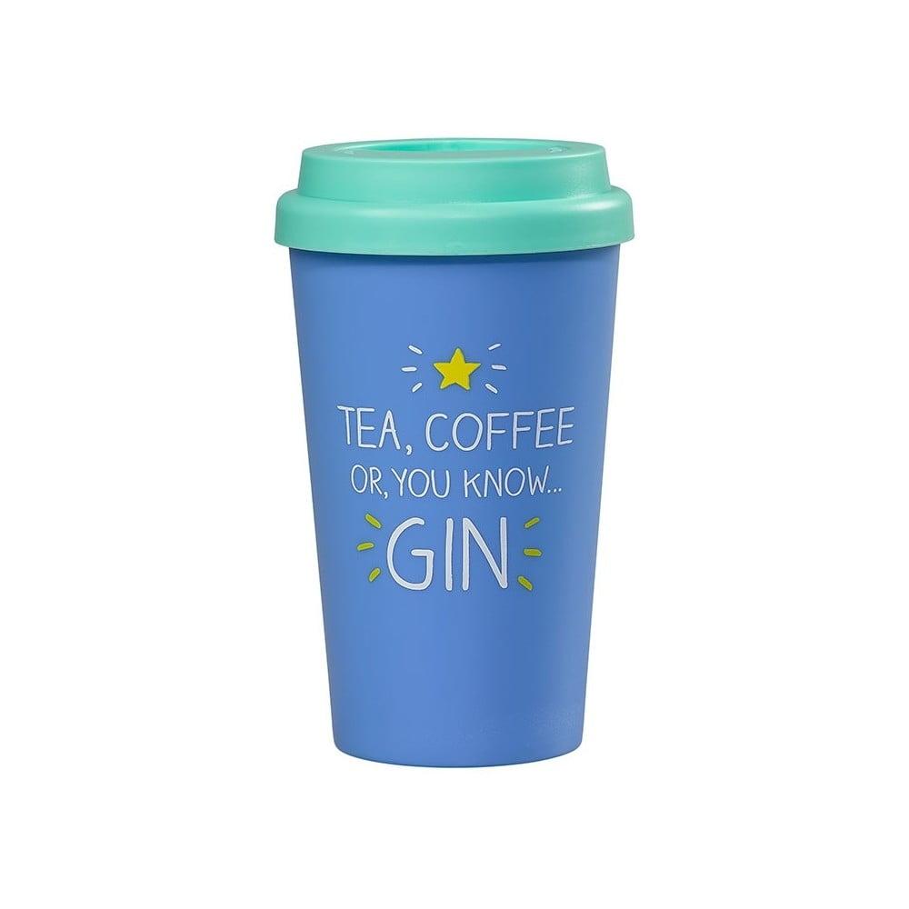 Modrý cestovní hrnek Happy Jackson Gin, 400 ml