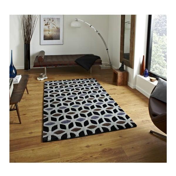 Koberec Fusion Black/Grey, 120x170 cm