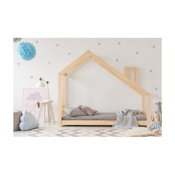 Cadru pat din lemn de pin, în formă de căsuță Adeko Mila DMS, 90 x 200 cm