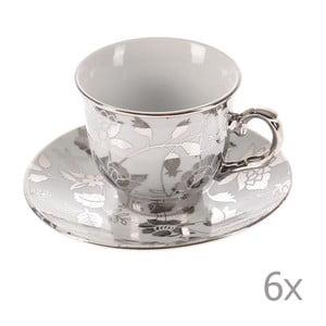 Set hrnků Silver Coffee, 6 ks