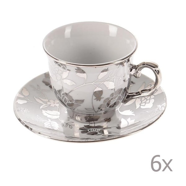 Set hrnků Silver Coffee, 6 ks