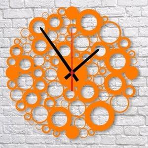 Nástěnné hodiny Orange Bubble