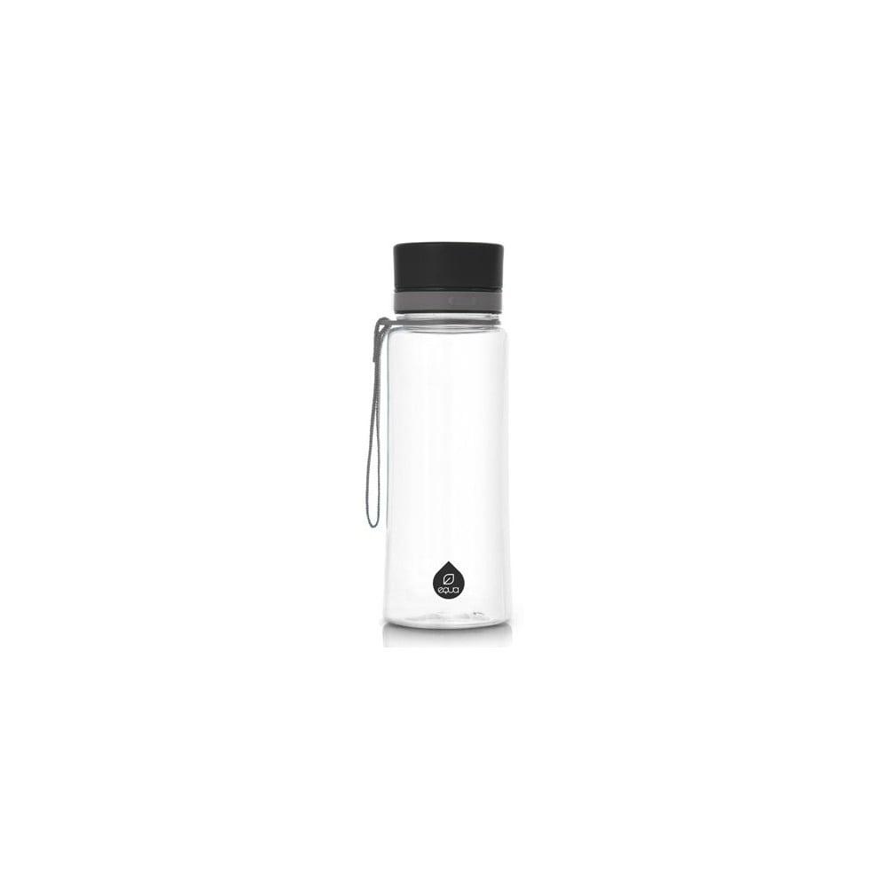 Plastová lahev Equa Plain Black, 0,6 l