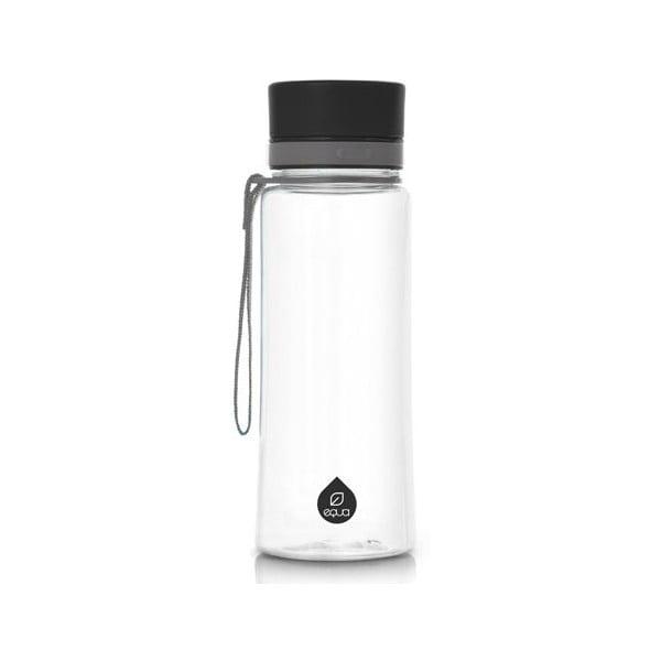 Plastikowa butelka Equa Plain Black, 0,4 l