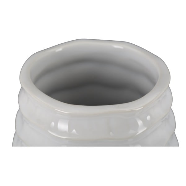 Bílá keramická váza Mauro Ferretti Waves, 13x30,5cm