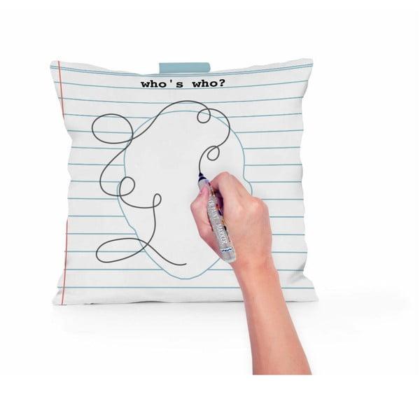 Dekorativní polštář na který lze kreslit Little Nice Things Face