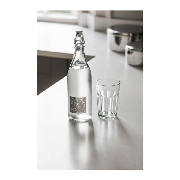 Skleněná láhev se zátkou Garden Trading Perfectly Drinkable, 1 l