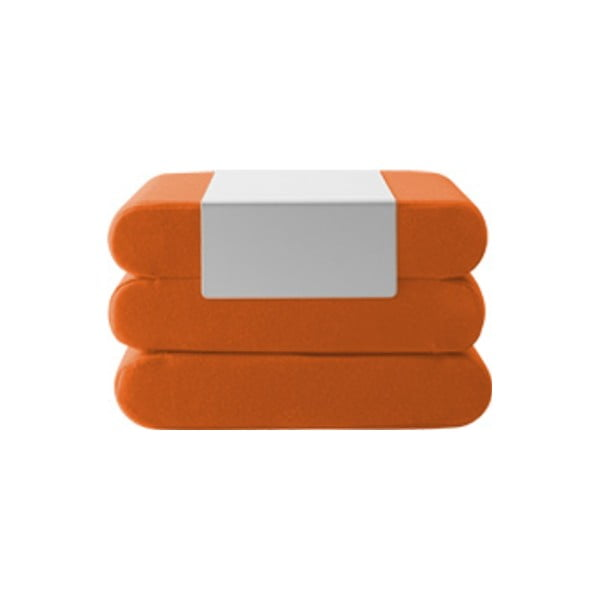 Oranžový rozkládací puf Softline Bingo Felt Mandarin