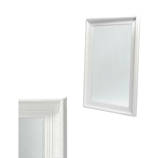 Nástěnné zrcadlo s bílým rámem Furnhouse Reflection,78x108cm