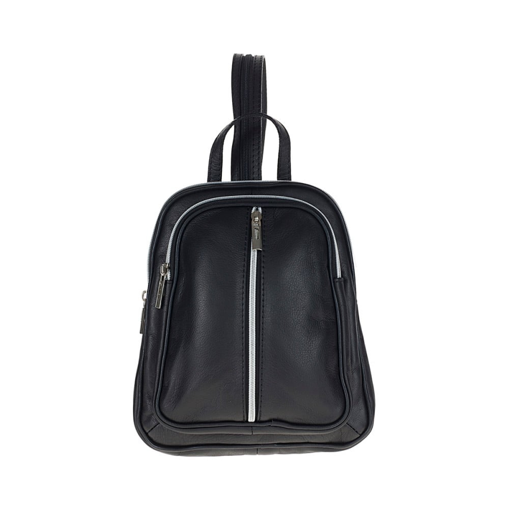 Černý kožený batoh Pitti Bags Betty