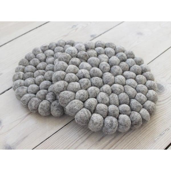 Pieskovohnedá guľôčková podložka z vlny Wooldot Ball Coaster, ⌀ 20 cm