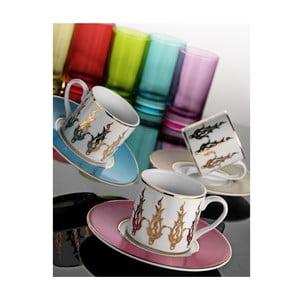 Sada hrníčků na kávu a sklenice Zlatá elegance, 12 ks