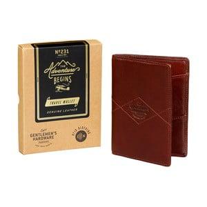 Kožená cestovní peněženka Gentlemen's Hardware Travel