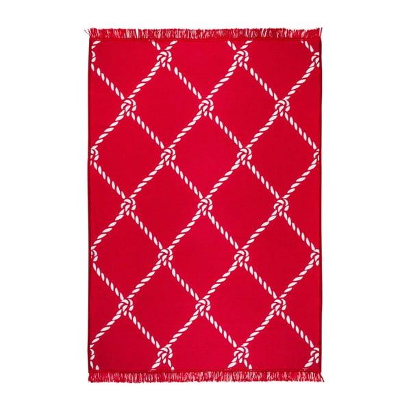 Rope piros-fehér kétoldalas szőnyeg, 120 x 180 cm