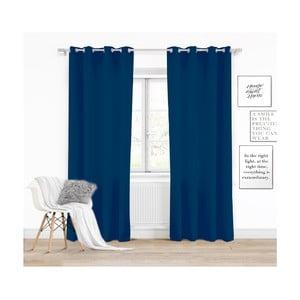 Tmavě modrý závěs Slowdeco Vivat, 140 x 250 cm