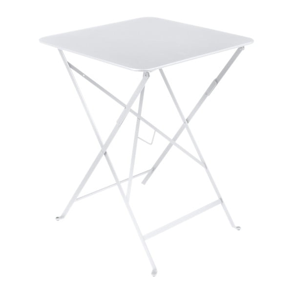 Bílý zahradní stolek Fermob Bistro, 57 x 57 cm