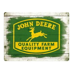 Retro plechová cedule John Deere, 30x40 cm