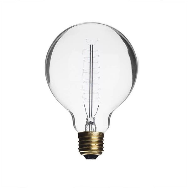 Žárovka Edison Clear G80 / E27 / 40W