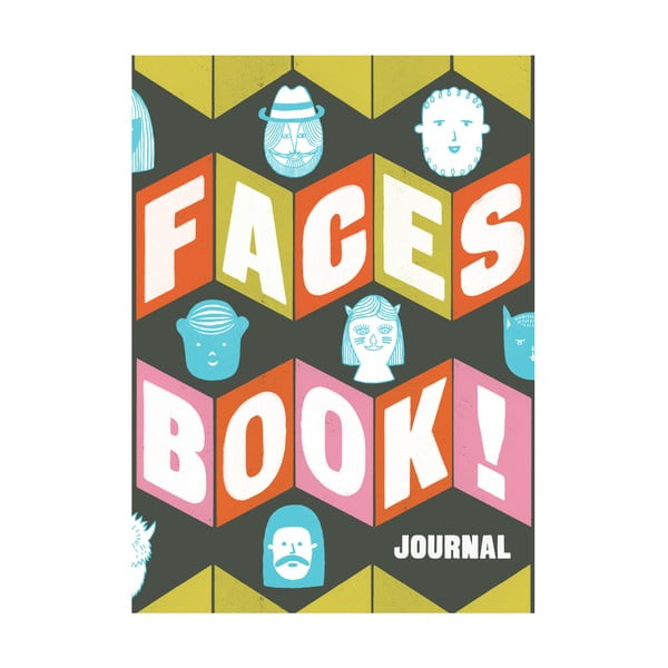 Zápisník Chronicle Books Faces Book! Journal