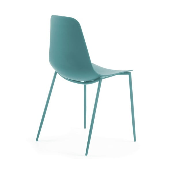 Sada 4 modrých jídelních židlí La Forma Wassu