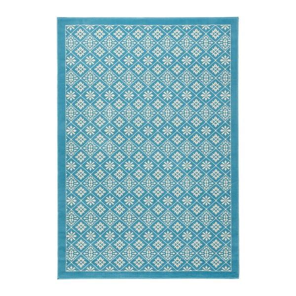 Světle modrý koberec Hanse Home Gloria Tile, 80x200cm
