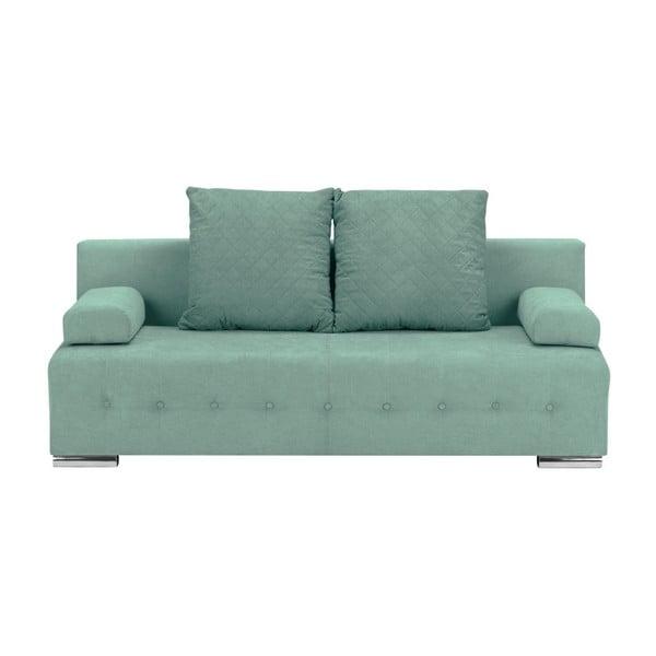 Suzanne mentazöld háromszemélyes kanapé, ágyneműtartóval - Melart