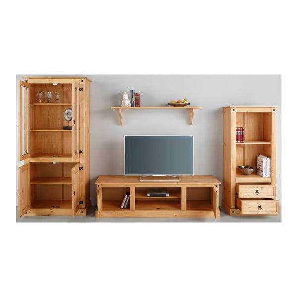 Trojdílná obývací stěna z borovicového dřeva Støraa Alfredo