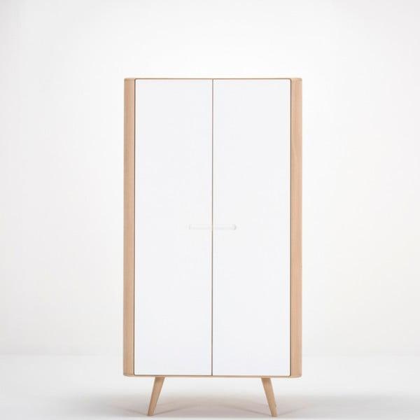Dulap cu structură din lemn masiv de stejar Gazzda Ena, 170 cm h