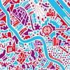 Nástěnná mapa Vídeň, 70x50 cm