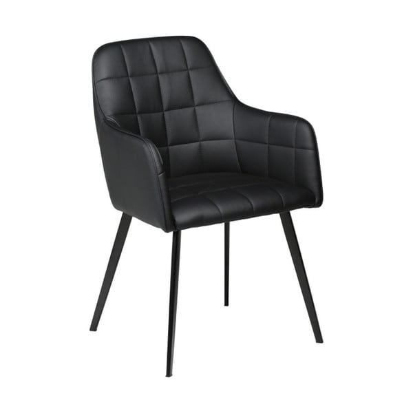 Czarne krzesło ze skóry ekologicznej DAN-FORM Denmark Embrace