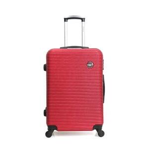 Červený cestovní kufr na kolečkách BlueStar Porto, 39l