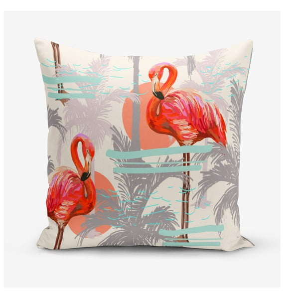 Povlak na polštář s příměsí bavlny Minimalist Cushion Covers Longie, 45 x 45 cm