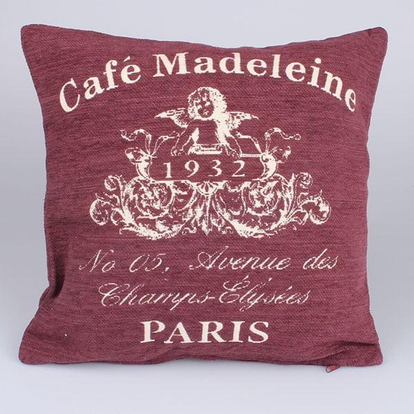 Povlak na polštář Café Paris, červený