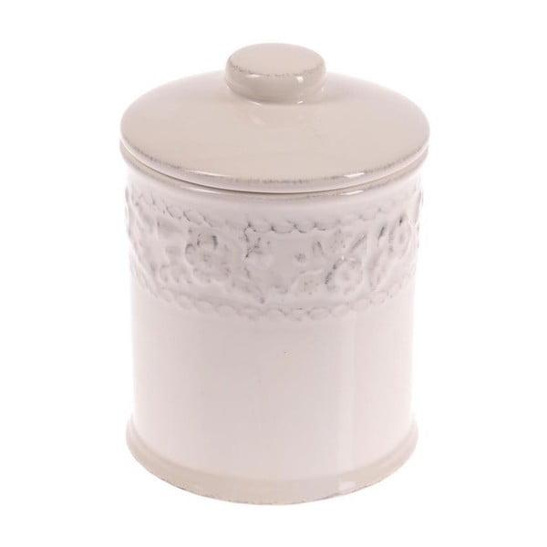 Keramická dóza In White, 18 cm