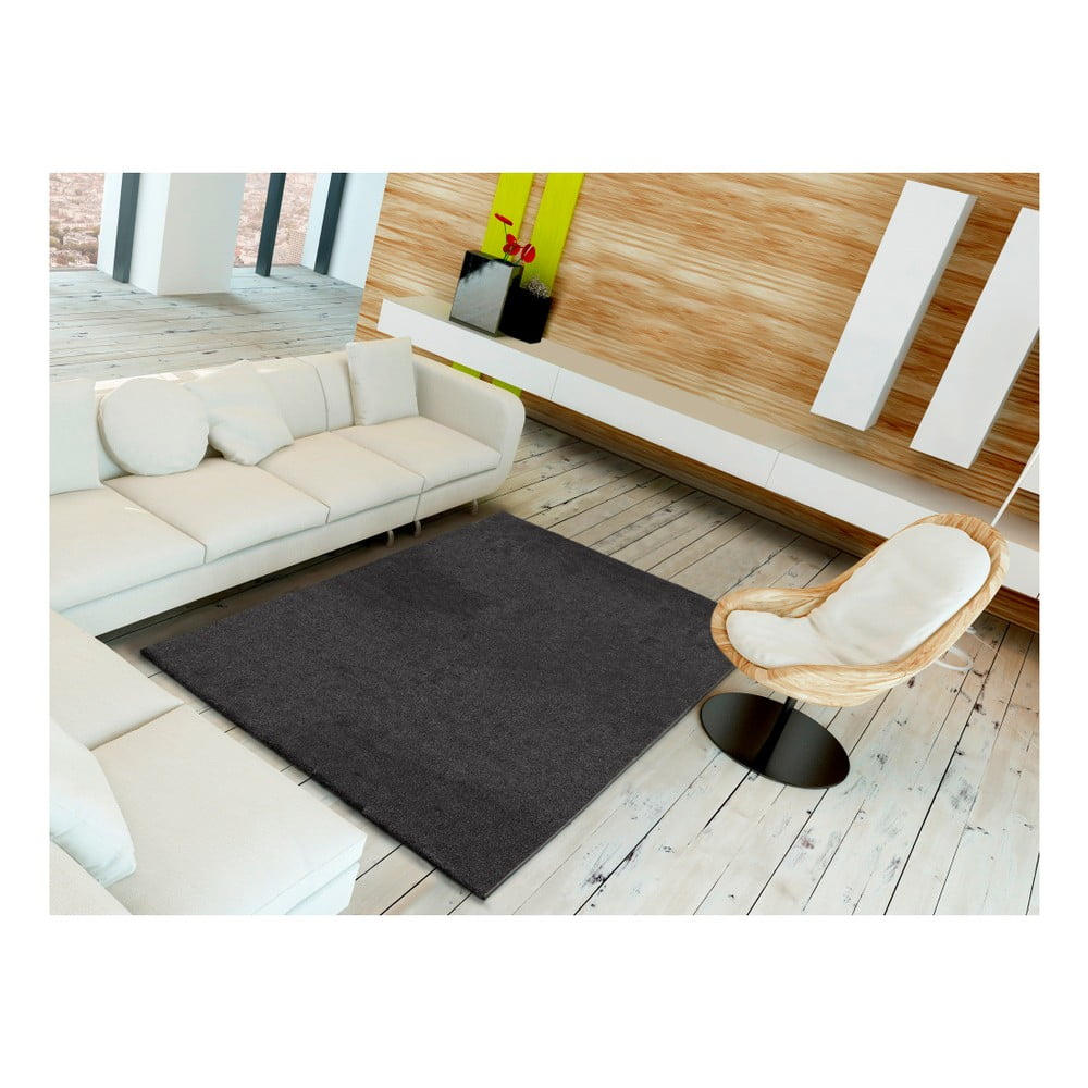 Šedý koberec Universal Veluro Gris, 57 x 110 cm