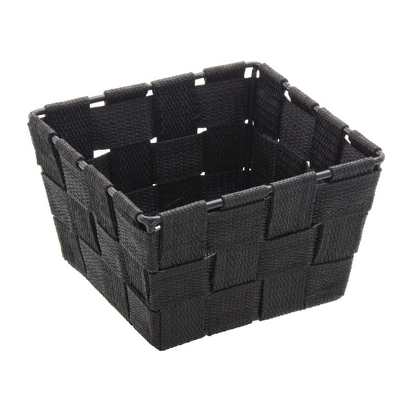 Coș pentru depozitare Wenko Adria, 14 x 14 cm, negru