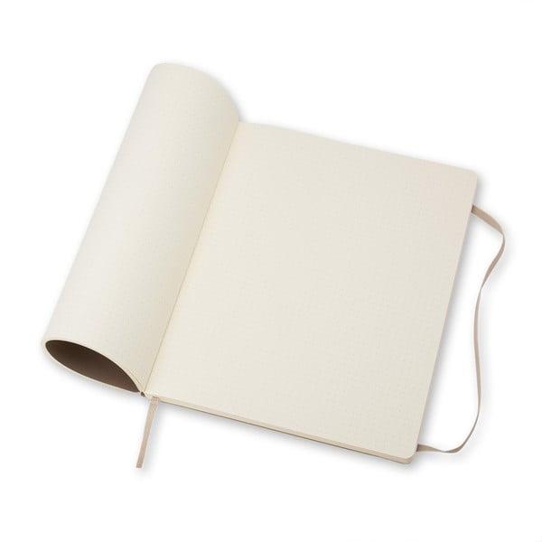 Extra velký šedý zápisník Moleskine Hard, tečkované linky
