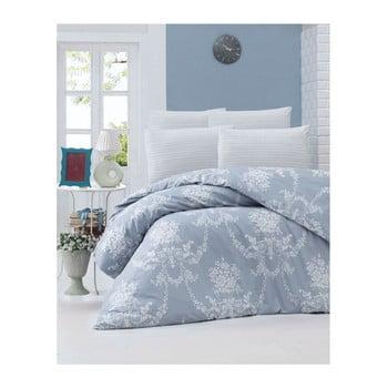 Lenjerie de pat din bumbac ranforce Gloria, 140 x 200 cm, albastru de la Victoria