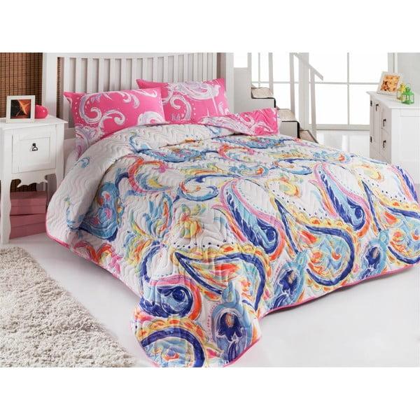 Sada prošívaného přehozu přes postel a dvou polštářů Single 117, 160x220 cm