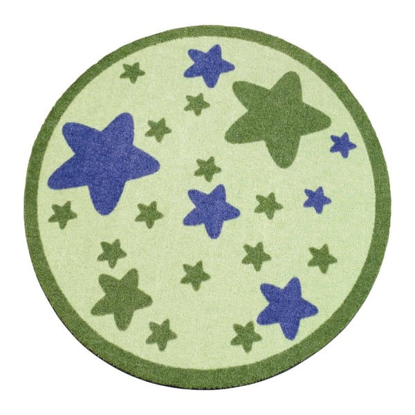 Koberec Deko - zelené hvězdy, 100 cm