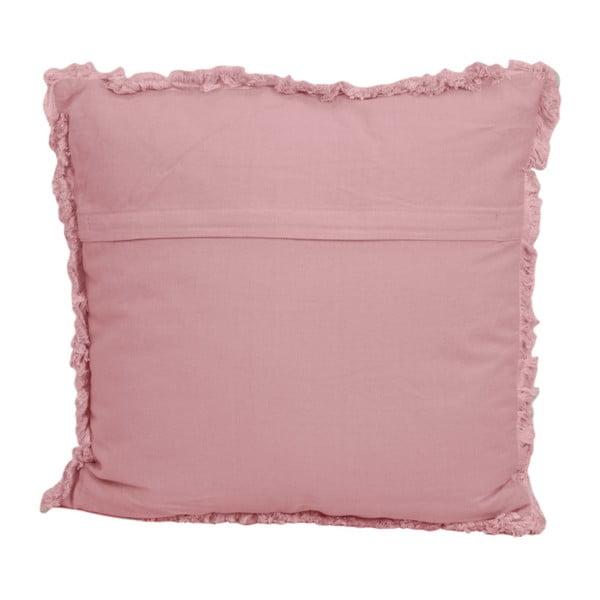 Růžový bavlněný polštář HSM collection Colorful Living Rosa Carro, 45 x 45 cm