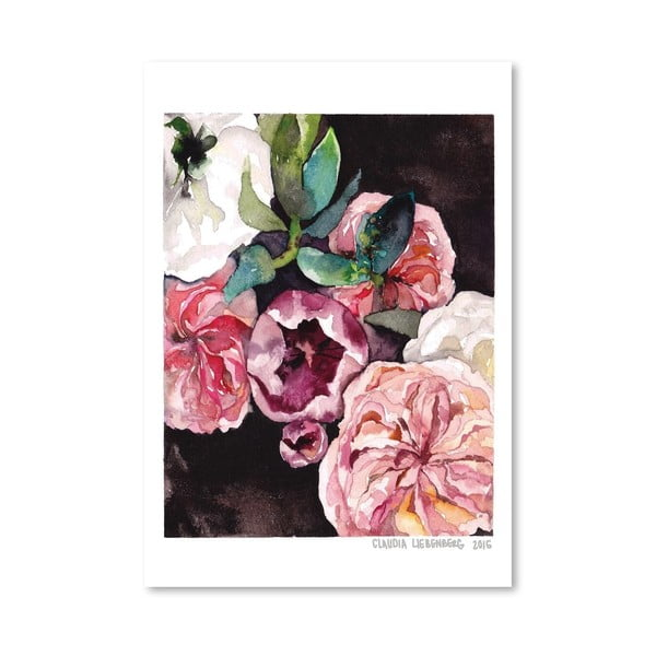 Poster Americanflat Blooms on Black IV, 30 x 42 cm