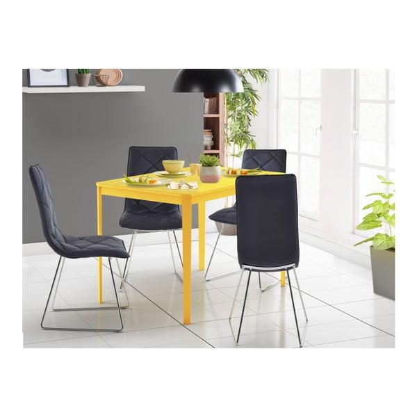 Žlutý jídelní stůl Støraa Trento, 110 x 75 cm