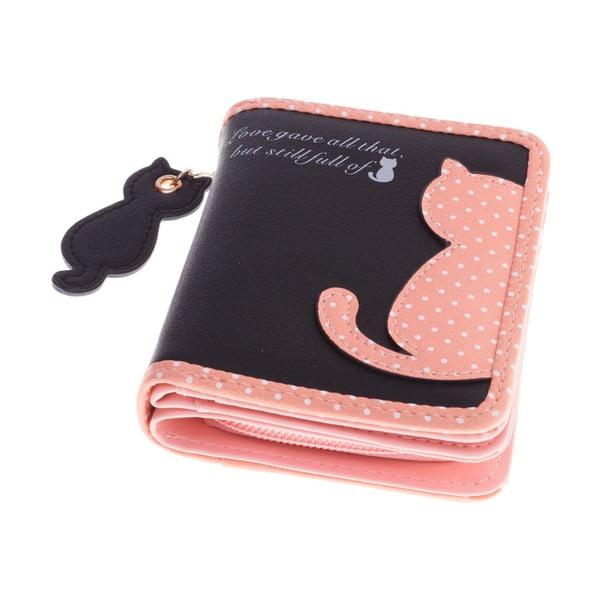 Malá peněženka Cat, černá