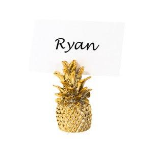Sada 6 držátek na jmenovky ve tvaru ananasu Talking tables Pineapple
