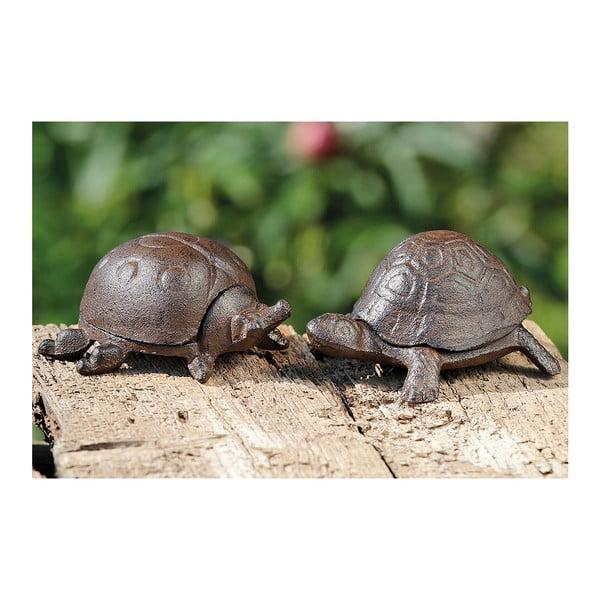 Sada 2 dekorativních želviček na ukrytí klíčů