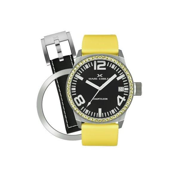 Dámské hodinky Marc Coblen s páskem a kroužkem navíc P1